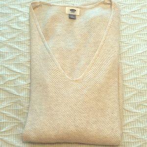 Long Cozy Oatmeal Sweater Size M 💜
